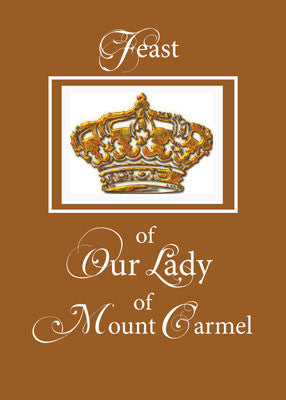 4448 Crown for Feast of Our Lady of Mount Carmel