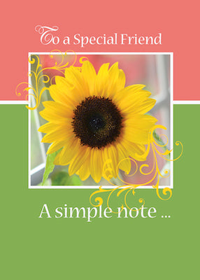 4470H Friend, Just a Note Sunflower
