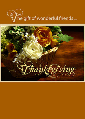 4001B Friends Thanksgiving Flower Basket