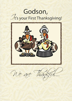 4250D Godson First Thanksgiving Turkey Family
