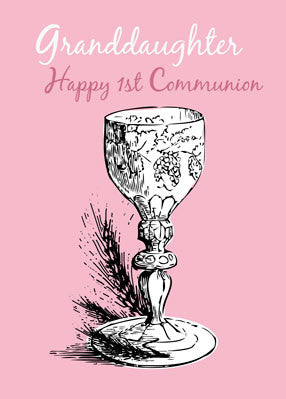 4421 Granddaughter First Communion Pink, Chalice