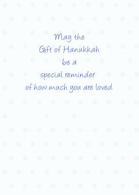 4009A Grandson First Hanukkah Blue With Dreidel, Gifts