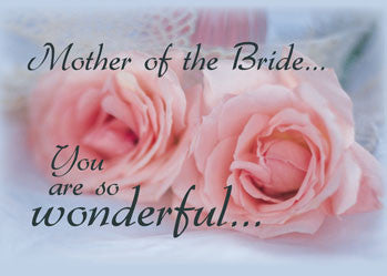 4226 Thanks Mother of Bride Pink Roses