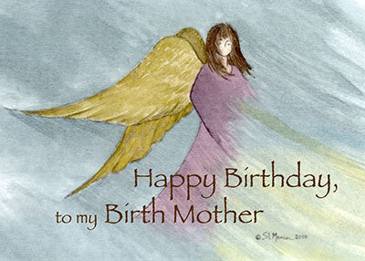 3852A Birth Mother Angel Birthday Blue