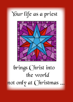 4016A Priest Christmas Blue Star