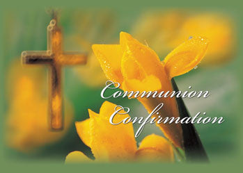 4430 RCIA Communion Confirmation, Crocus, Cross