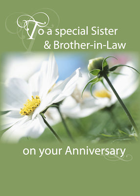 4007C Sister & Brother-in-Law, Anniversary White Flowers