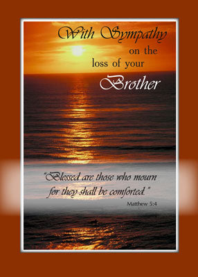 4102 Sympathy Loss of Brother, Sunset Over Ocean, Religious