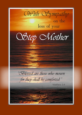 4102U Sympathy Loss of Step Mother, Sunset Over Ocean, Religious