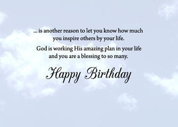 51885 Sunset Sky Religious Birthday Card