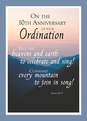 2687C 10th Anniversary of Ordination Heaven and Earth