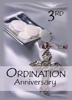 51756H 3rd Ordination Anniversary Congratulations, Host, Cross