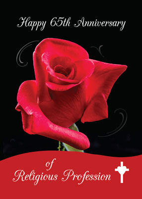 52324 65th Anniversary of Religious Profession, Red Rose, Cross