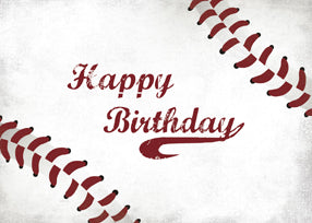 52407A Birthday Large Grunge Baseball