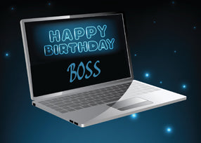 52073B Boss Computer Birthday from All of Us
