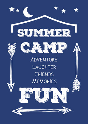 52401 Camp Fun Navy Blue, White Arrows