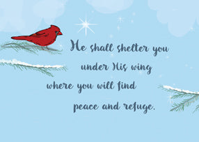 52499 Cardinal Bird Religious Support in Difficult Time, Holidays