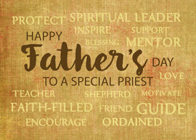 52289A Catholic Priest Father's Day, Qualities of Father