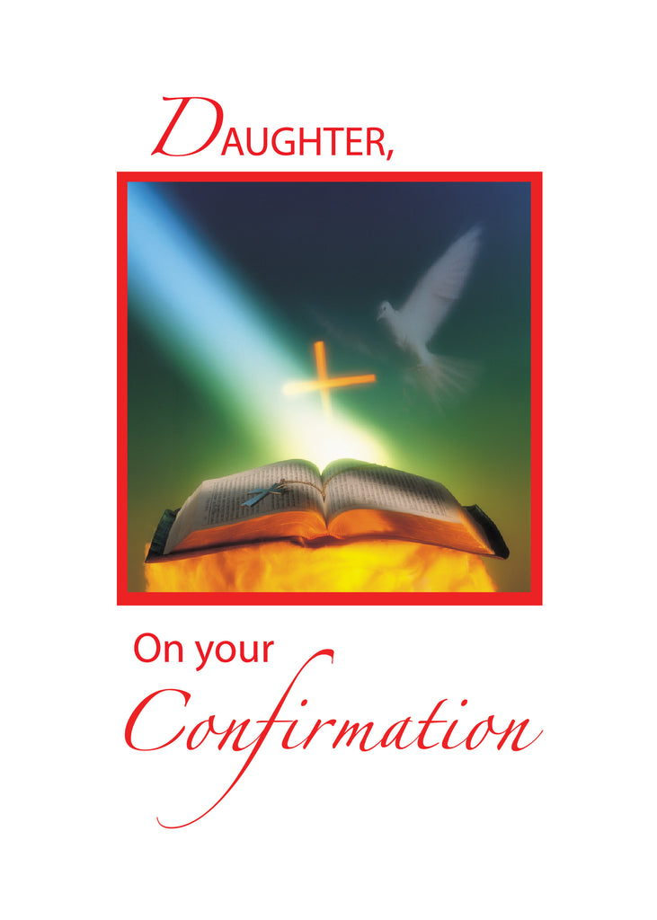 2916A Daughter Confirmation Dove, Bible, Cross