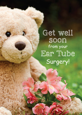 52124C Ear Tube Surgery Recovery, Teddy Bear Get Well