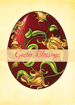 52018MA Easter Religious Blessings, Egg with Lilies