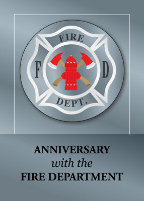 52540 Employee Anniversary with Fire Department Silver