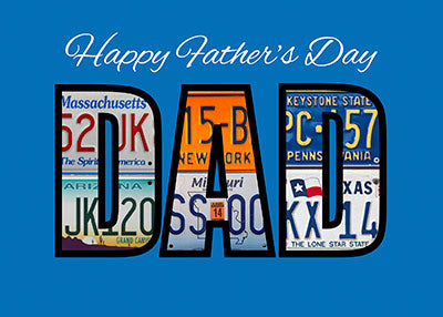52075 Father's Day DAD License Plates