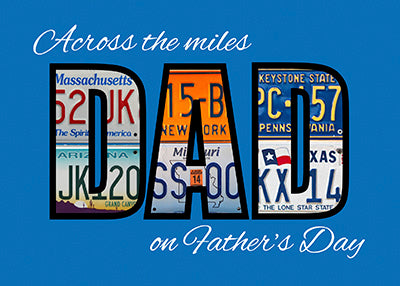 52075A Across the Miles Father's Day DAD License Plates