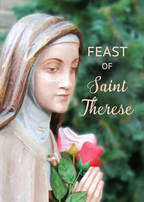 52377 Happy Feast of St. Therese, Rose