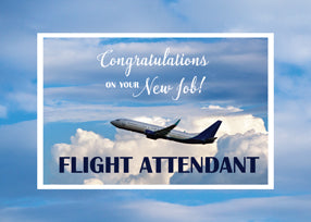 52427 Flight Attendant, Congratulations New Job
