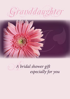 3981E Granddaughter Bridal Shower Pink Daisy