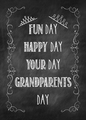52176C Grandparents Day Chalkboard, Crown Embellishment