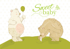 52464 Grandparents Sweet Baby Congratulations, Bears
