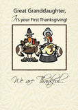 4250J Great Granddaughter First Thanksgiving Turkey Family