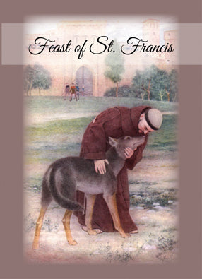 4318A Happy Feast of St. Francis, Peace Prayer