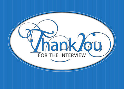 3963B Interview Business Thank You Blue Script