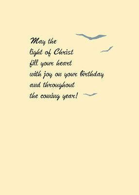 52280 Lighthouse Birthday, Golden Sky, Religious