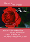 4369B Loss of Mother, Sympathy Red Rose Religious