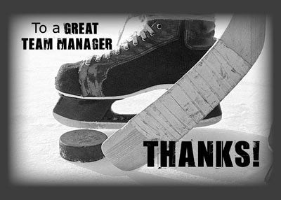 3817B Manager Ice Hockey Team Thank You
