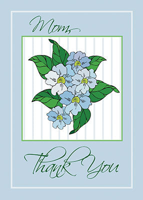 2776B Mom Thank You Blue Flowers