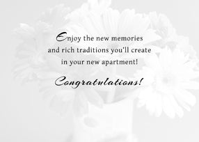 3622A New Apartment Congratulations Flowers
