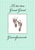 51761A New Great Great Grandparents of Baby, Neutral Green Footprint