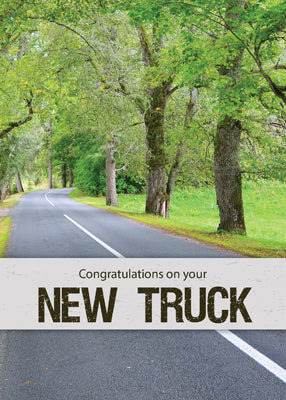 52518 New Truck Congratulations, Road with Trees