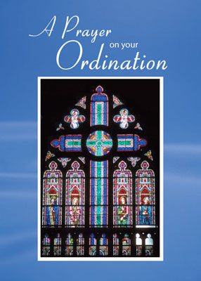 51655 Ordination Prayer, Stained Glass Cross