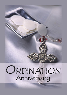 51756J Ordination Anniversary Congratulations, Host, Cross
