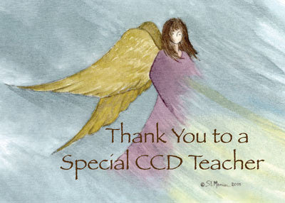 3852B CCD Teacher Thank You Angel Blue