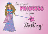 51837J 9th Birthday Pink Princess