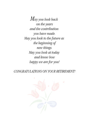 52393 Retirement Congratulations Flowers