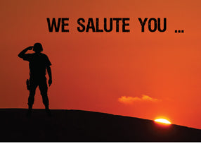 52537 Thank You Soldier Salute at Sunset