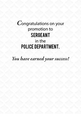 52528 Sergeant in Police Department Promotion